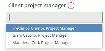 Project manager from client side